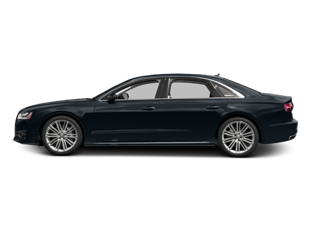 Moonlight Blue Metallic 2017 Audi A8 L Pictures A8 L 4.0 TFSI Sport photos side view