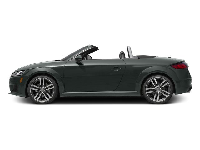 Monsoon Gray Metallic/Black Roof 2017 Audi TT Roadster Pictures TT Roadster 2.0 TFSI photos side view