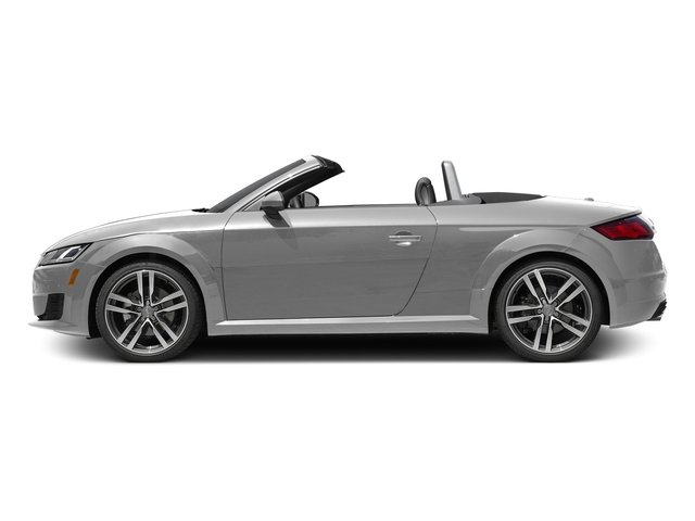 Glacier White Metallic/Black Roof 2017 Audi TT Roadster Pictures TT Roadster 2.0 TFSI photos side view