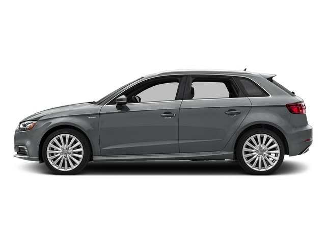 Monsoon Gray Metallic 2017 Audi A3 Sportback e-tron Pictures A3 Sportback e-tron Hatchback 5D E-tron Premium Plus photos side view