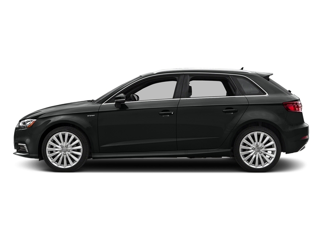 Mythos Black Metallic 2017 Audi A3 Sportback e-tron Pictures A3 Sportback e-tron Hatchback 5D E-tron Premium Plus photos side view