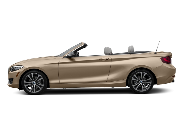 Moonlight Silver Metallic 2017 BMW 2 Series Pictures 2 Series Convertible 2D 230xi AWD I4 Turbo photos side view