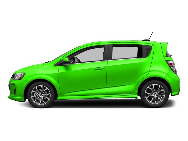 Krypton Green 2017 Chevrolet Sonic Pictures Sonic 5dr HB Auto LT w/1SD photos side view