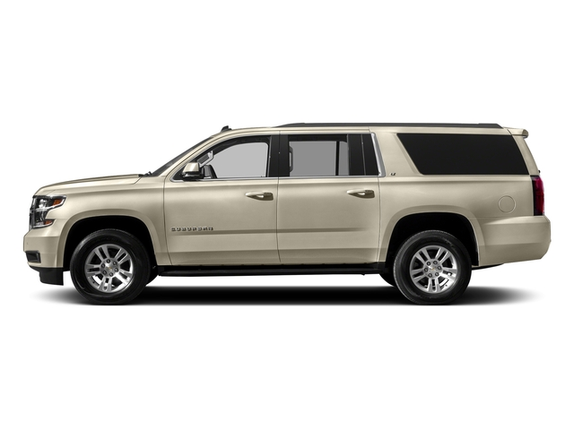 Champagne Silver Metallic 2017 Chevrolet Suburban Pictures Suburban 2WD 4dr 1500 LT photos side view