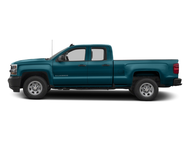 Deep Ocean Blue Metallic 2017 Chevrolet Silverado 1500 Pictures Silverado 1500 2WD Double Cab 143.5 Work Truck photos side view
