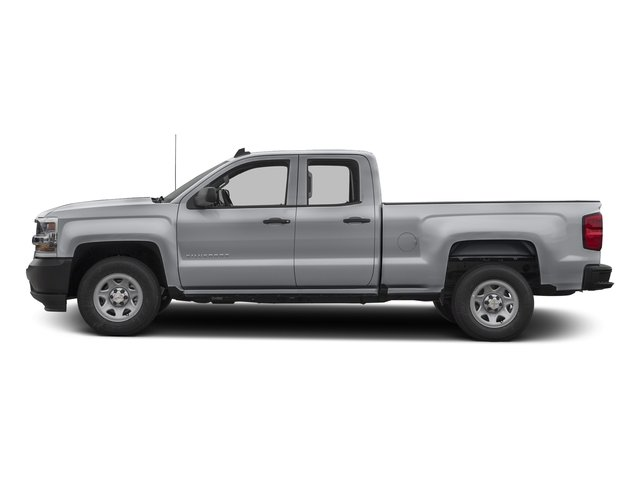 Silver Ice Metallic 2017 Chevrolet Silverado 1500 Pictures Silverado 1500 2WD Double Cab 143.5 Work Truck photos side view
