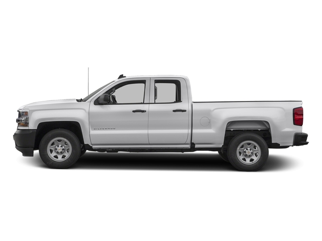 Summit White 2017 Chevrolet Silverado 1500 Pictures Silverado 1500 2WD Double Cab 143.5 Work Truck photos side view