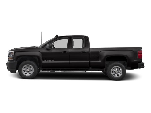 Black 2017 Chevrolet Silverado 1500 Pictures Silverado 1500 2WD Double Cab 143.5 Work Truck photos side view