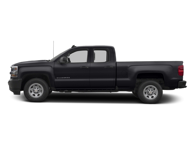 Graphite Metallic 2017 Chevrolet Silverado 1500 Pictures Silverado 1500 2WD Double Cab 143.5 Work Truck photos side view
