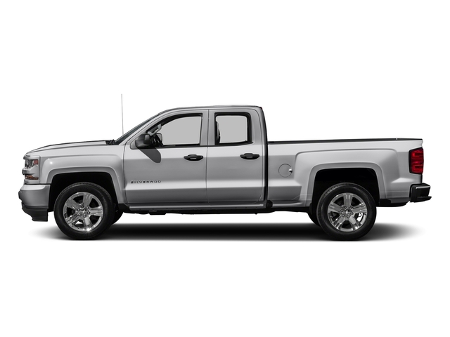 Silver Ice Metallic 2017 Chevrolet Silverado 1500 Pictures Extended Cab Custom 2wd Photos Side
