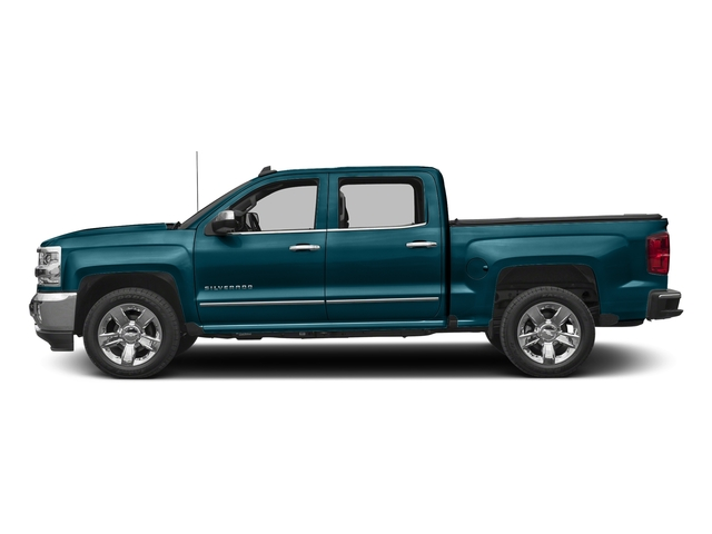 Deep Ocean Blue Metallic 2017 Chevrolet Silverado 1500 Pictures Silverado 1500 4WD Crew Cab 153.0 LTZ w/1LZ photos side view