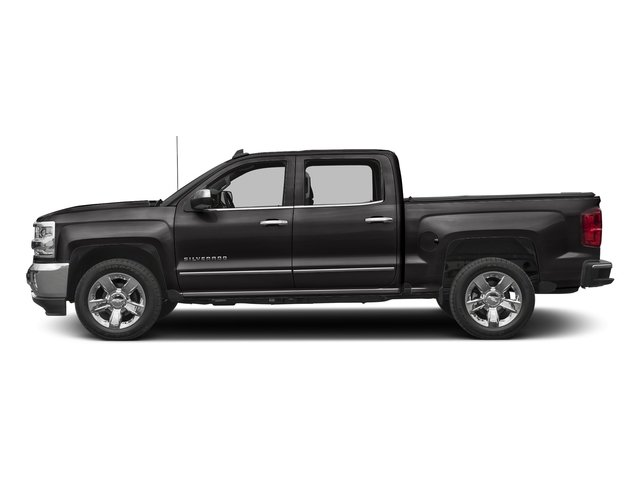 Black 2017 Chevrolet Silverado 1500 Pictures Silverado 1500 4WD Crew Cab 153.0 LTZ w/1LZ photos side view