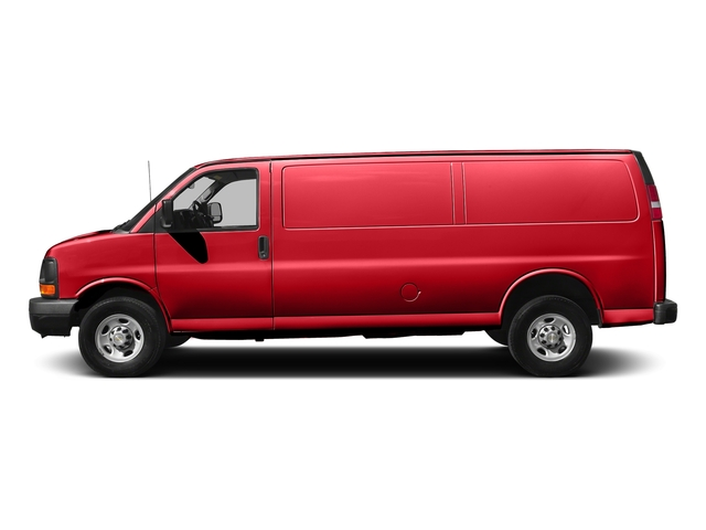Red Hot 2017 Chevrolet Express Cargo Van Pictures Express Cargo Van RWD 3500 155 photos side view