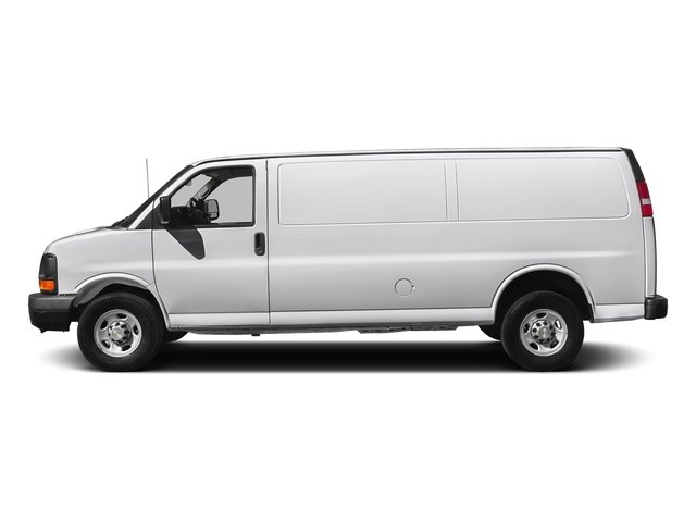 Summit White 2017 Chevrolet Express Cargo Van Pictures Express Cargo Van RWD 3500 155 photos side view