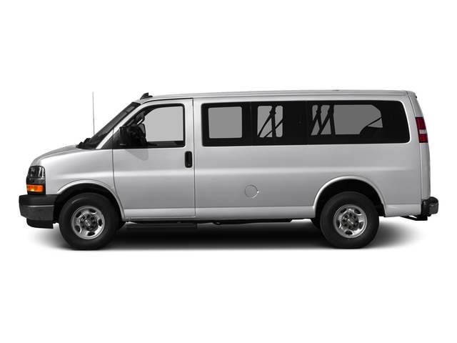 Silver Ice Metallic 2017 Chevrolet Express Passenger Pictures Express Passenger RWD 2500 135 LS photos side view