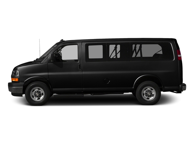 Black 2017 Chevrolet Express Passenger Pictures Express Passenger RWD 2500 135 LS photos side view