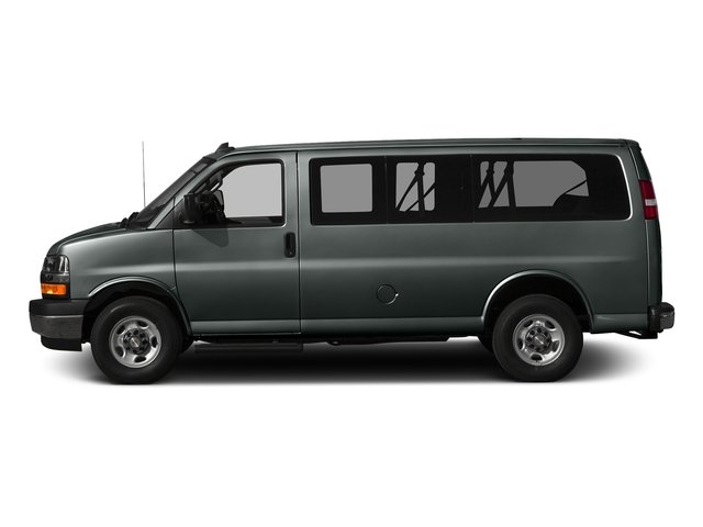 Cyber Gray Metallic 2017 Chevrolet Express Passenger Pictures Express Passenger RWD 2500 135 LS photos side view