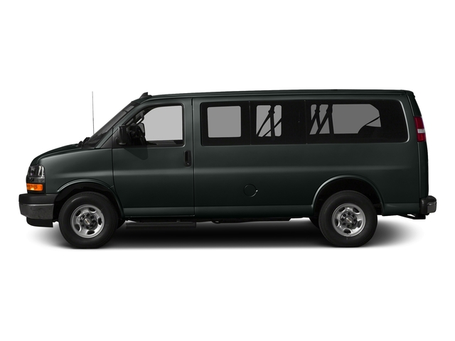 Graphite Metallic 2017 Chevrolet Express Passenger Pictures Express Passenger RWD 2500 135 LS photos side view