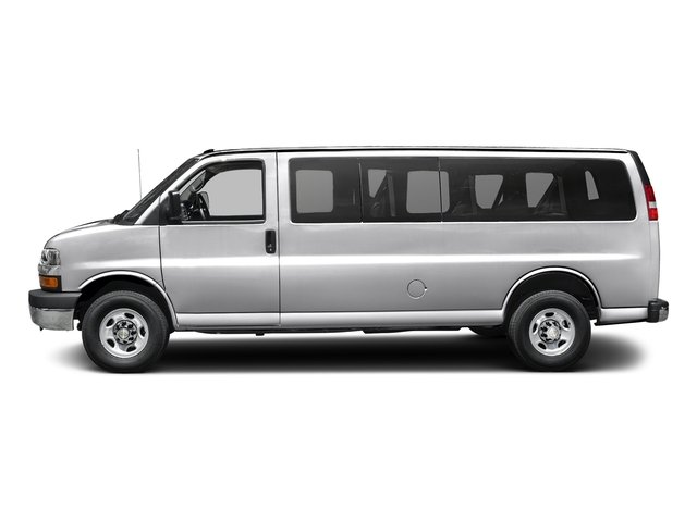 Silver Ice Metallic 2017 Chevrolet Express Passenger Pictures Express Passenger RWD 3500 155 LT w/1LT photos side view