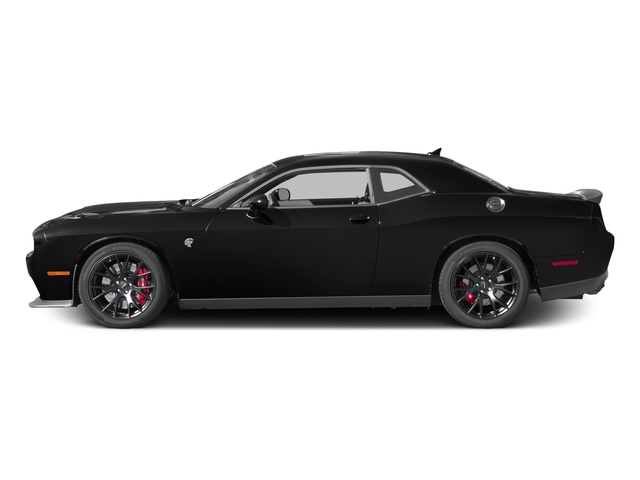 Pitch Black Clearcoat 2017 Dodge Challenger Pictures Challenger SRT Hellcat Coupe photos side view