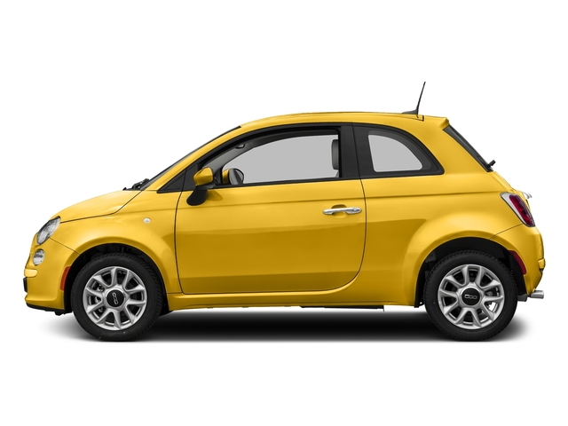 Giallo Moderna Perla (Pearl Yellow Tri-Coat) 2017 FIAT 500 Pictures 500 Pop Hatch photos side view