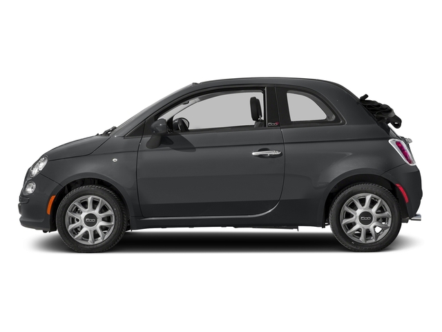 Granito Lucente (Granite Crystal) 2017 FIAT 500c Pictures 500c Lounge Cabrio photos side view