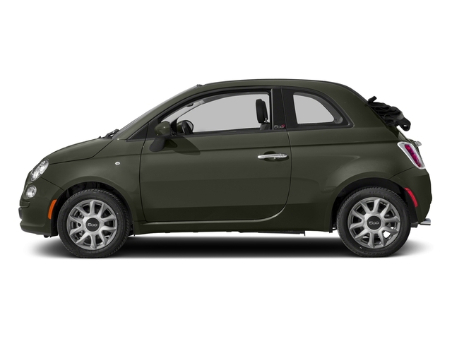 Verde Oliva (Olive Green) 2017 FIAT 500c Pictures 500c Lounge Cabrio photos side view
