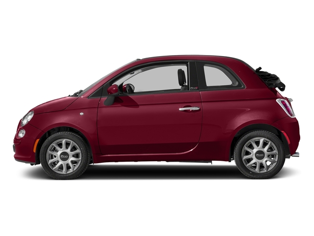 Rosso (Red) 2017 FIAT 500c Pictures 500c Lounge Cabrio photos side view