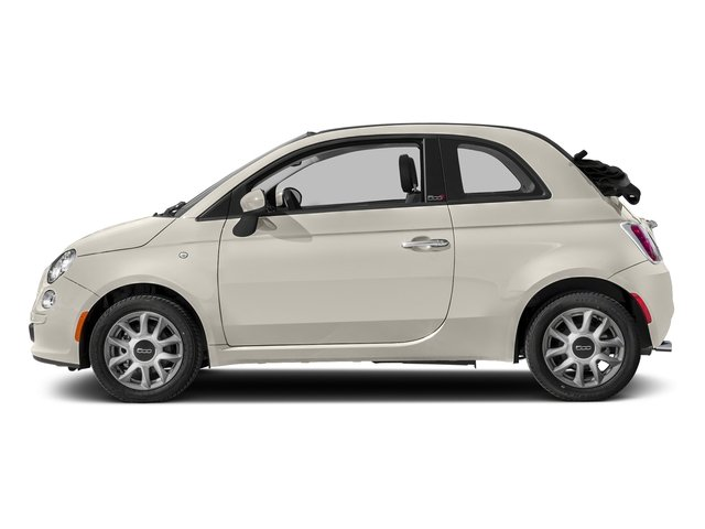 Bianco (White) 2017 FIAT 500c Pictures 500c Lounge Cabrio photos side view