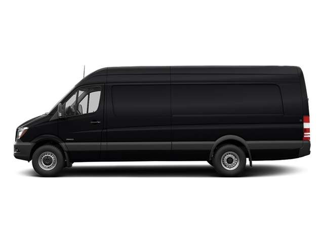 Jet Black 2017 Freightliner Light Duty Sprinter Cargo Van Pictures Sprinter Cargo Van 3500 High Roof V6 170 Extended RWD photos side view