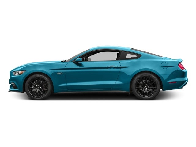 Lightning Blue Metallic 2017 Ford Mustang Pictures Mustang Coupe 2D GT V8 photos side view