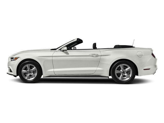 White Platinum Metallic Tri-Coat 2017 Ford Mustang Pictures Mustang Convertible 2D V6 photos side view