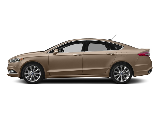 White Gold 2017 Ford Fusion Pictures Fusion Sedan 4D Platinum AWD I4 Turbo photos side view