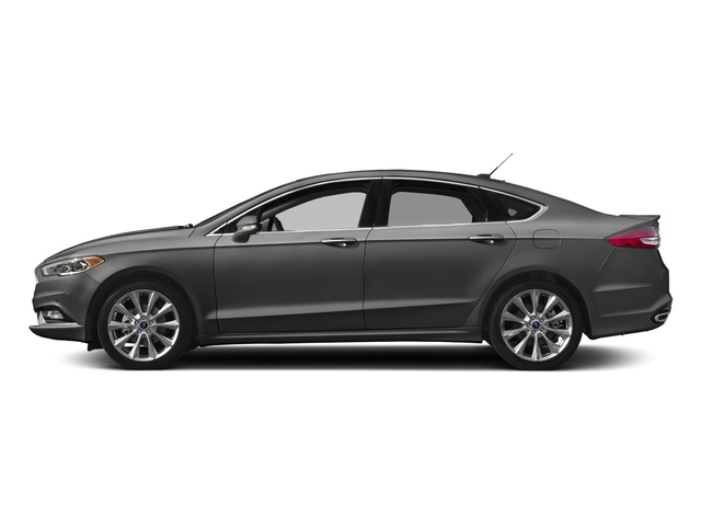 Magnetic 2017 Ford Fusion Pictures Fusion Sedan 4D Platinum AWD I4 Turbo photos side view