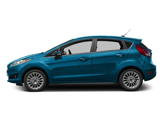 Blue Candy Metallic Tinted Clearcoat 2017 Ford Fiesta Pictures Fiesta Hatchback 5D Titanium I4 photos side view