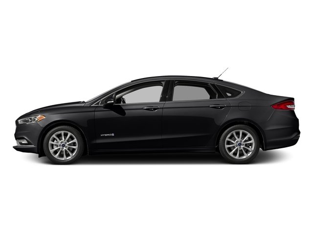 Shadow Black 2017 Ford Fusion Pictures Fusion Sedan 4D SE I4 Hybrid photos side view