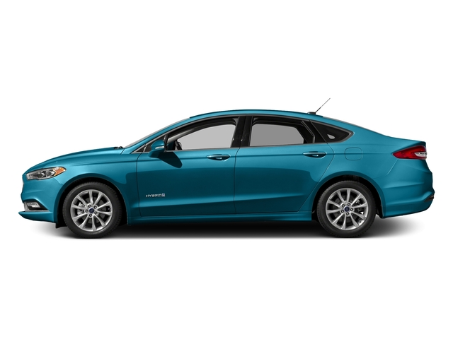 Lightning Blue 2017 Ford Fusion Pictures Fusion Sedan 4D SE I4 Hybrid photos side view