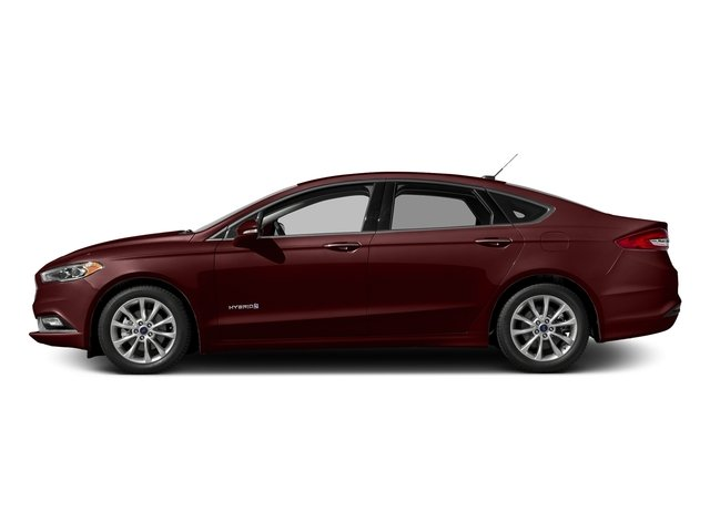 Burgundy Velvet Metallic Tinted Clearcoat 2017 Ford Fusion Pictures Fusion Sedan 4D SE I4 Hybrid photos side view