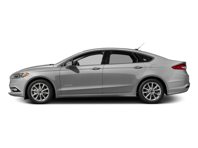 Ingot Silver 2017 Ford Fusion Pictures Fusion Sedan 4D SE I4 Hybrid photos side view