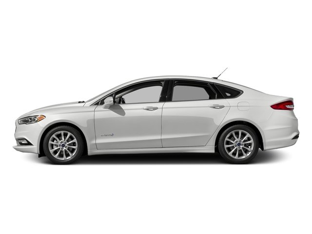 Oxford White 2017 Ford Fusion Pictures Fusion Sedan 4D SE I4 Hybrid photos side view