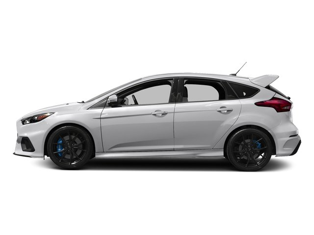 Frozen White 2017 Ford Focus Pictures Focus Hatchback 5D RS AWD I4 Turbo photos side view