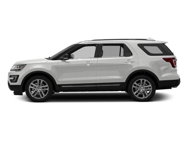 Oxford White 2017 Ford Explorer Pictures Explorer Utility 4D XLT 4WD V6 photos side view