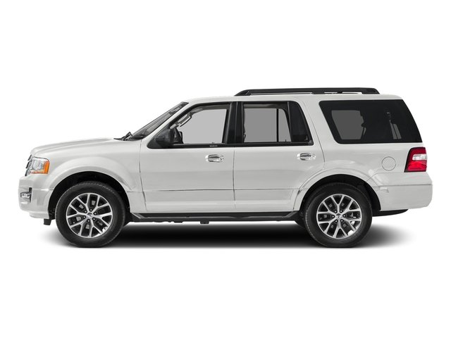 White Platinum Metallic Tri-Coat 2017 Ford Expedition Pictures Expedition Utility 4D XLT 4WD V6 Turbo photos side view
