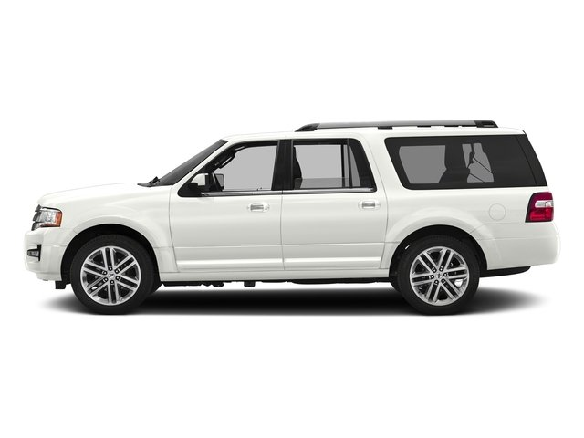 White Platinum Metallic Tri-Coat 2017 Ford Expedition EL Pictures Expedition EL Utility 4D Limited 4WD V6 Turbo photos side view