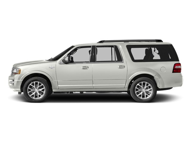 White Platinum Metallic Tri-Coat 2017 Ford Expedition EL Pictures Expedition EL Utility 4D King Ranch 4WD V6 Turbo photos side view