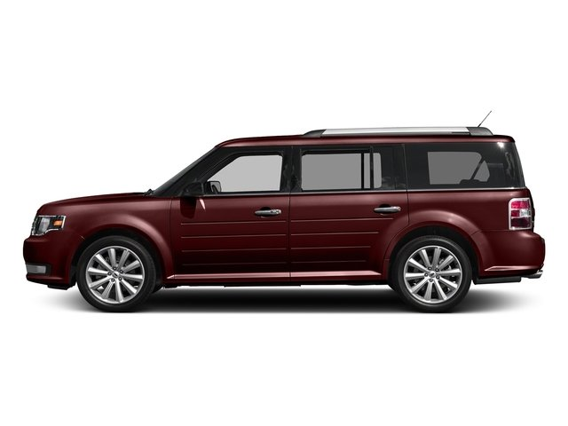 Burgundy Velvet Tinted Clearcoat 2017 Ford Flex Pictures Flex Wagon 4D Limited AWD photos side view