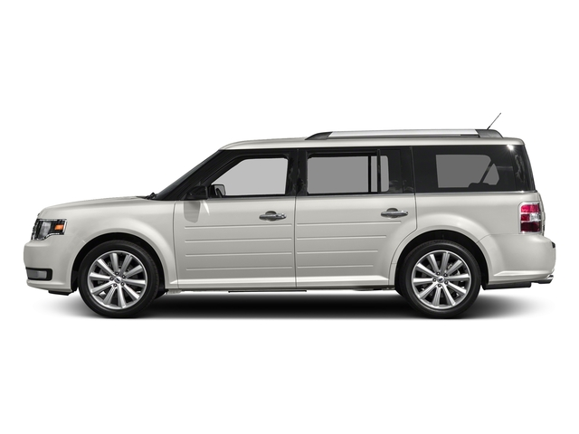 White Platinum Metallic Tri-Coat 2017 Ford Flex Pictures Flex Wagon 4D Limited AWD photos side view