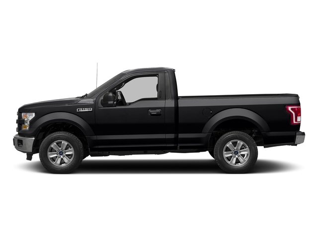 Shadow Black 2017 Ford F-150 Pictures F-150 Regular Cab XLT 4WD photos side view