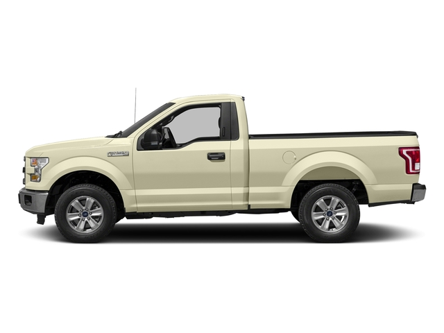 White Gold 2017 Ford F-150 Pictures F-150 Regular Cab XLT 4WD photos side view