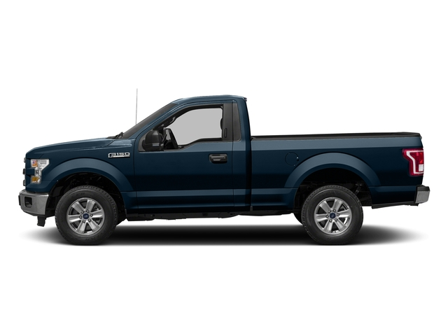 Blue Jeans Metallic 2017 Ford F-150 Pictures F-150 Regular Cab XLT 4WD photos side view
